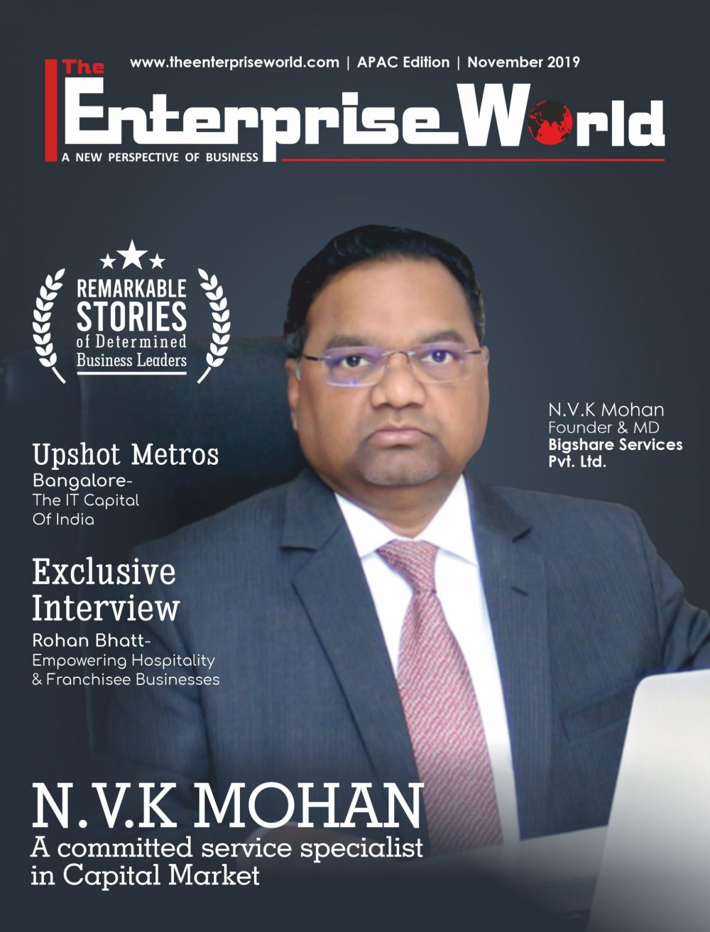 The Remarkable Stories of Determined Business Leaders | The Enterprise World Magazine Coverpage