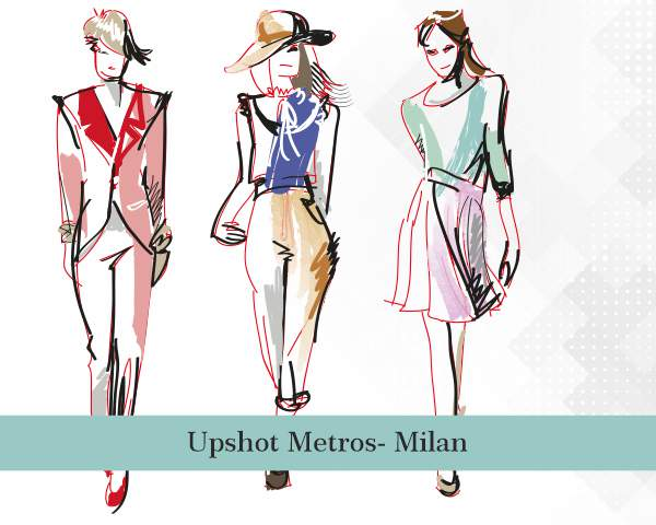 Fashion sketches in Milan fashion capital of the world