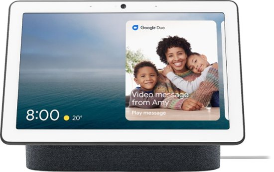 Google - Nest Hub Max with Google Assistant