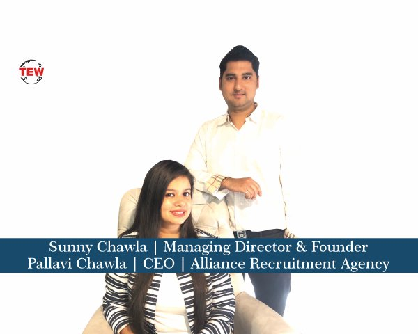 Mr. Sunny Chawla, Managing Director & Founder and Mrs. Pallavi Chawla, CEO |Alliance Recruitment Agency