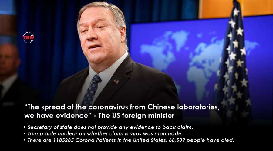 """""""The spread of the coronavirus from Chinese laboratories, we have evidence"""" - The US foreign minister"""