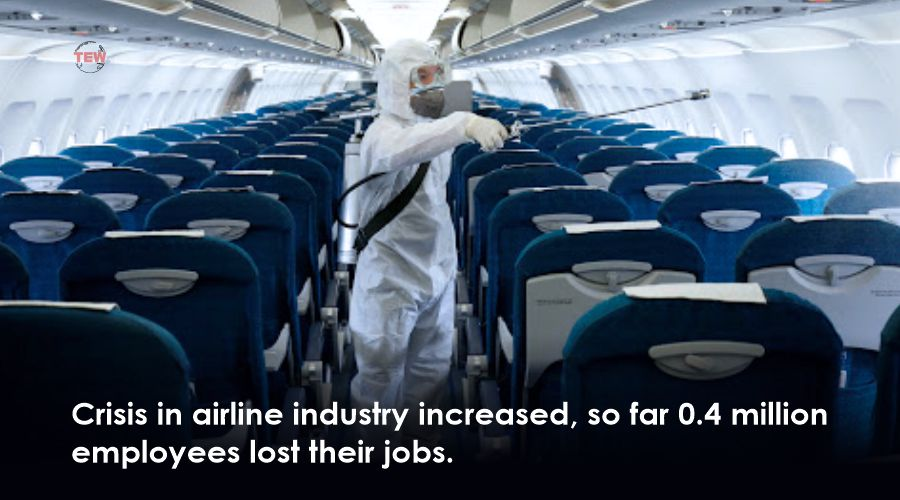 Crisis in airline industry increased, so far 0.4 million