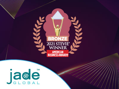 Read more about the article Jade Global Honored as Bronze Stevie Award Winner in 2021 American Business Awards®