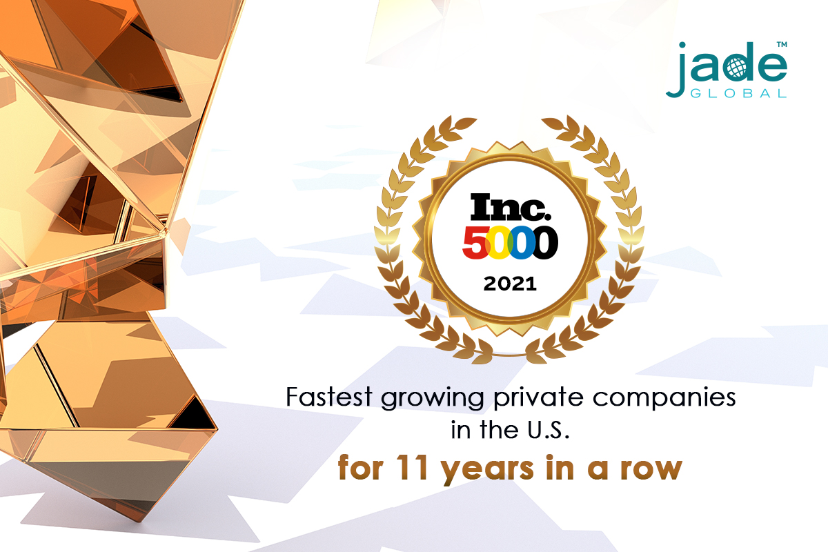 Read more about the article Jade Global, a worldwide IT leader in the Inc. 5000 List for 11 Straight Years